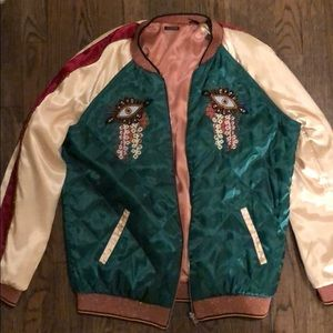 Scotch and Soda silk bomber jacket (reversible)